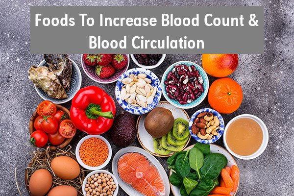 Foods for improving circulation and blood flow